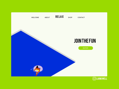 Relax design ui layout green website pool relax