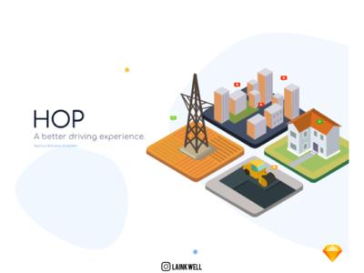 TrafficCast UI Design Challenge - HOP branding mobile illustration app ui desiginspiration design sketch app ux challenge ux designer ux design ux  ui