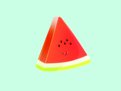 A watermelon slice that are happy to see you 🍉 smile food vector delicious funny summervibes summer kids happy creative fruit fun watermelon illustrator illustration denmark aarhus adobe