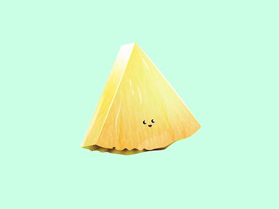Pineapple friend 🍍 slice kids funny food happy fruit summer design illustrator flat colors vector illustration denmark aarhus adobe pineapple