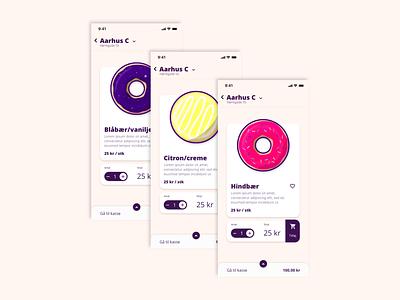 Shop for donuts xd adobexd illustrator illustration colors flat adobe denmark aarhus fastfood food uiux branding appdesign userinterface ui inspiration app donuts