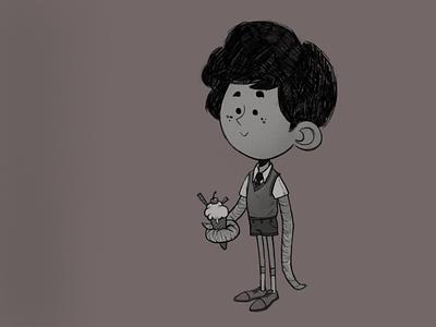 OctopusKid ipad procreate illustration character