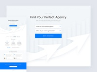 Agency Matcher Landing Page