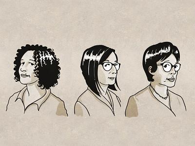 Ligne Claire Portraits portraits illustration vector ligneclaire