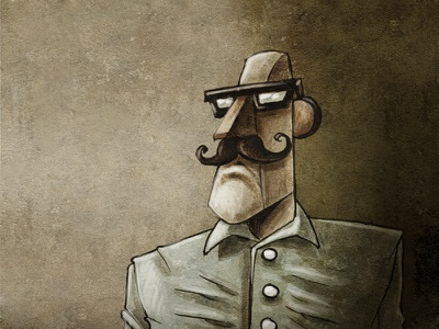 The Colonel portrait drawing illustration characterdesign
