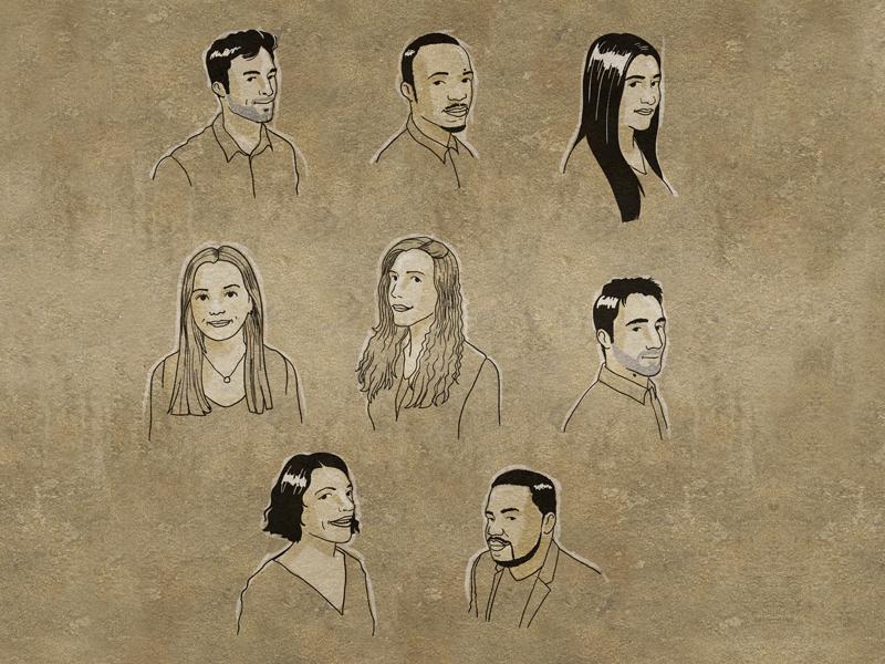 Portraits klarelijn ligneclaire portrait design illustration vector characterdesign