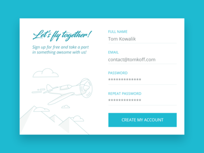 Daily UI - #001 - Sign Up