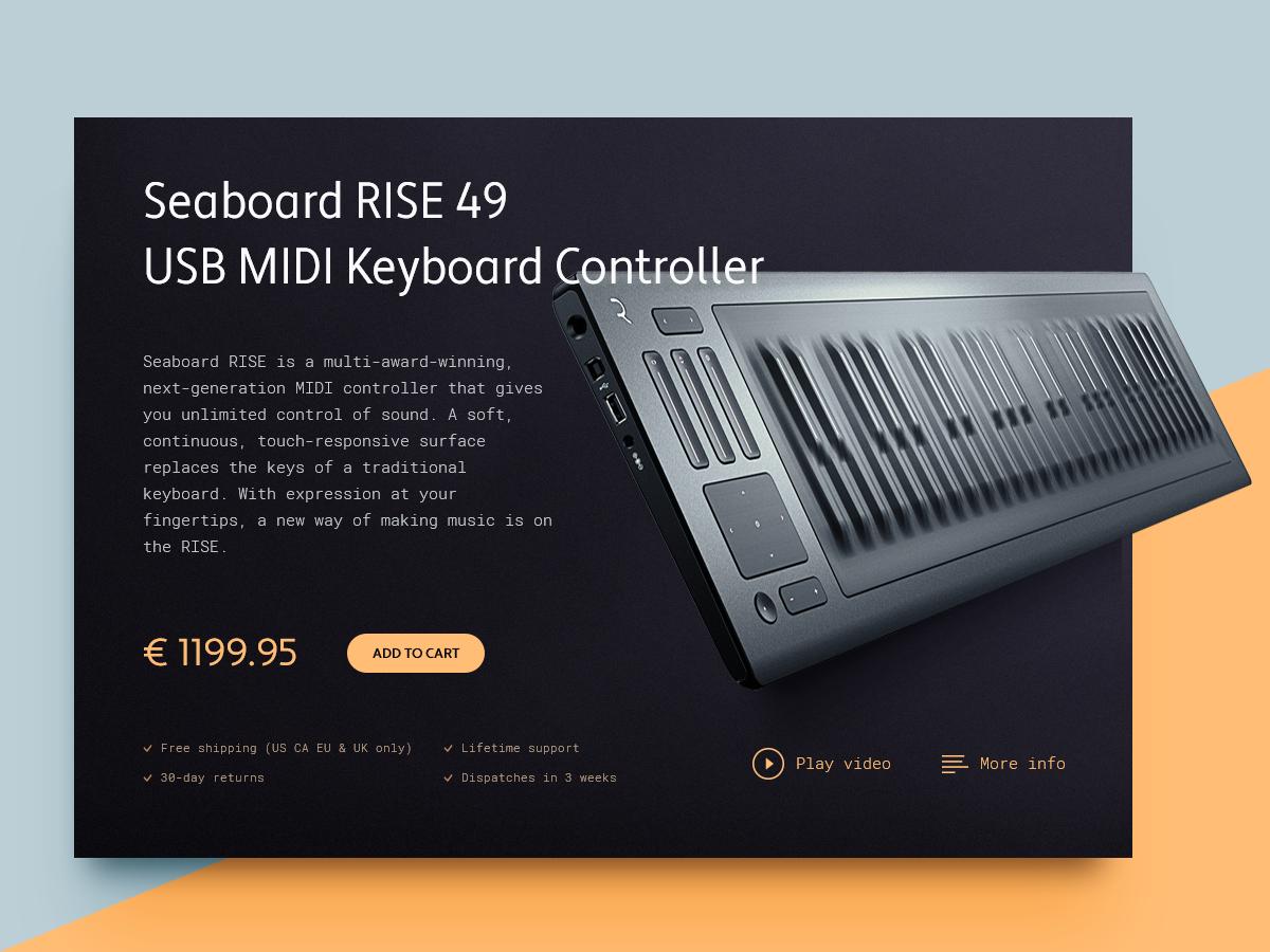 Daily UI - #012 - E-Commerce Shop (Single Item) cart keyboard controller midi dailyui shop e-commerce