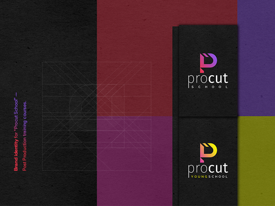 """Procut"" Post-Production School logotype dribbble shot vector graphic design identity logo branding"