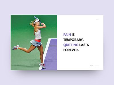 homepage_ui user interface website b2b tennis sport homepage ux ui