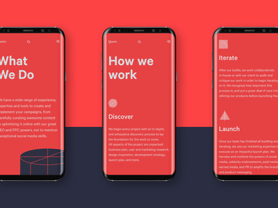 Quots s8 galaxy samsung mobile contrast red design interaction user interface agency