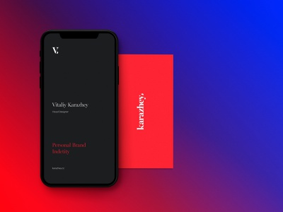Vitaliy Karazhey mobile design webdeisgn gradient interaction design identity branding logo