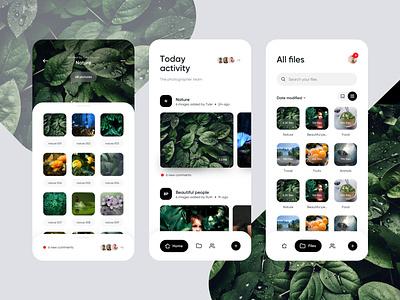 Photographers app team pictures photo photographer photography photos ios images folders folder bottom nav bottom menu bottom bar activity feed activity