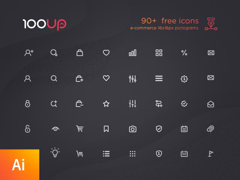 90+ free e-commerce icon set download pictogramm vector ai free card shop e-commerce set icons icon