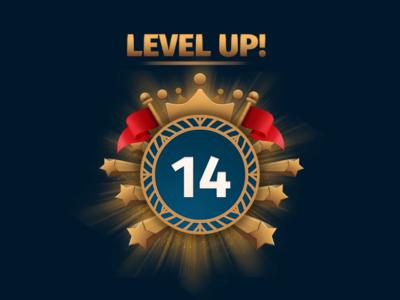 Level Up illustration design app game android ui