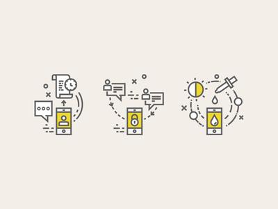 Mobile Transactions calibration screen talk messenger security lock line clock card credit illustration vector icon app mobile