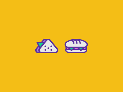 Sandwich icons toast icon food fastfood bread bakery illustration vector icons sandwich