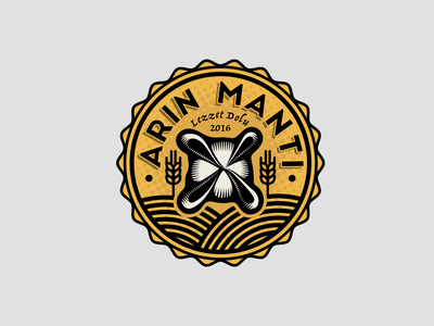 Mantı Logo wheat pasty food illustration icon logo