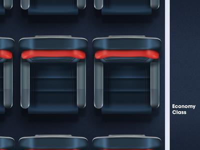 Economy Class design photoshop in-flight economy class illustration airline