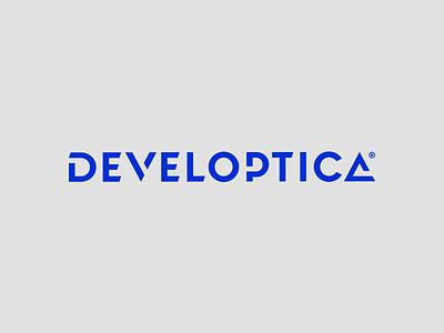 Developtica logotype perfect guide modern wordmark inspiration logo design creative logos corporate brand mark tecnology development identity branding logotype logo