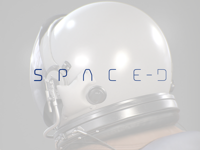 SPACE-D Logo travel spacerocket space spacedchallenge spaced branding minimal logo type identity astronaut