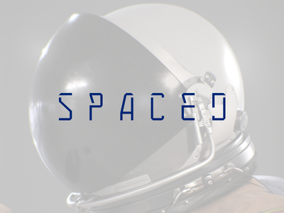 Spaced Logo vector logotype type travel spacedchallenge spaced space minimal logo identity branding