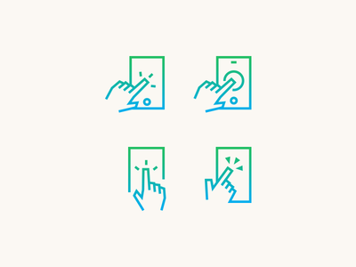 Click Finger hand minimal mark logo tap design line icon click finger
