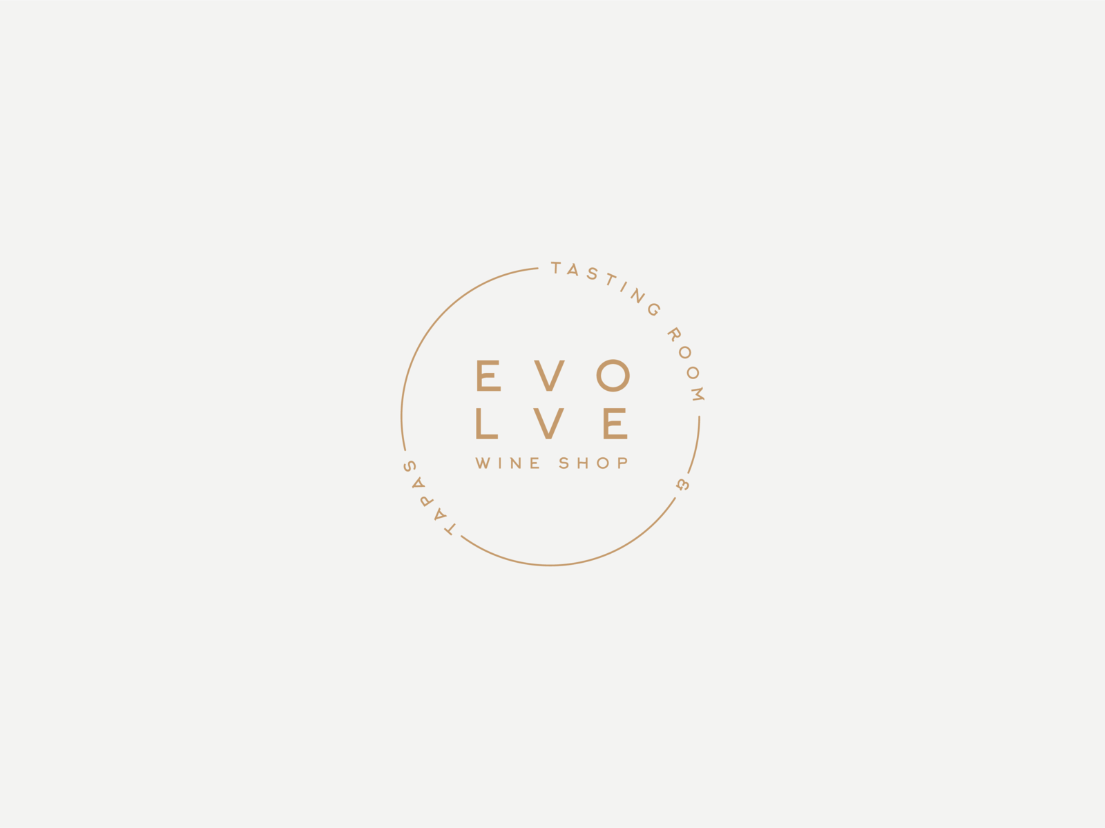 Evolve Wine Shop Badge graphic design branding minimal branding minimal round logo badge logo design logo