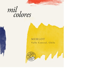 Mil Colores - Wine Label Concept chile colorful art wine labels wine logo watercolor art clean label design design wine label