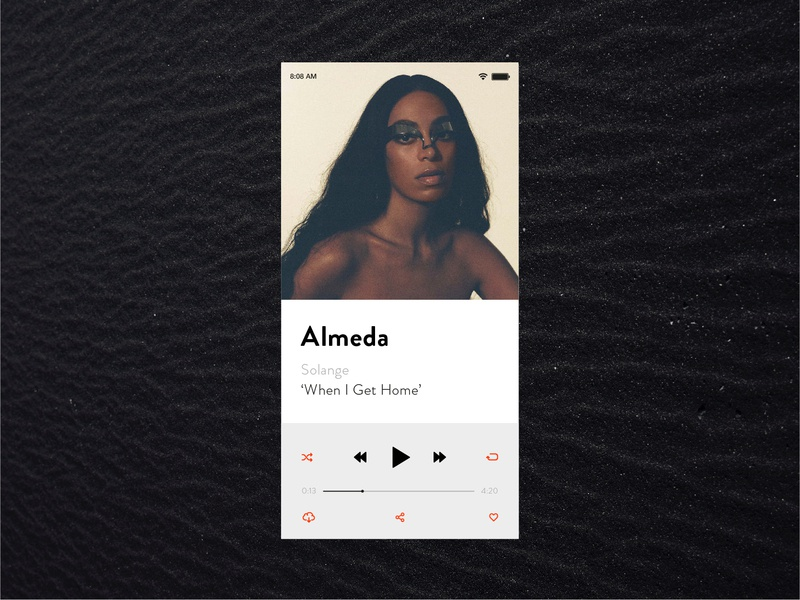 Daily UI Challenge — #009 ux ui clean design daily ui challenge vector minimal layout daily ui 009 daily ui music player almeda solange
