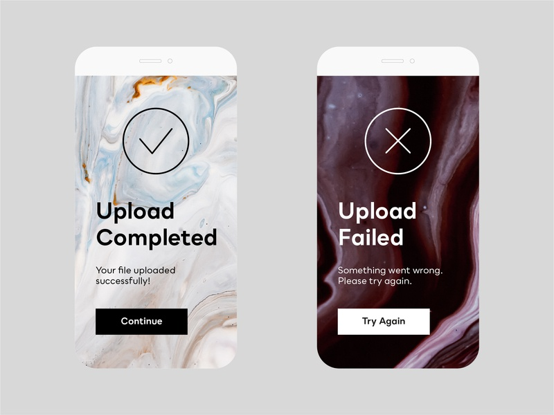 Daily UI Challenge — #011 visual design digital design minimal digital minimal app app  design ui design ux design ui design upload failed upload completed flash message daily ui 011 daily ui