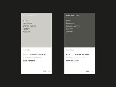 Daily UI Challenge — #015 webdesign home monitoring app ux branding vector clean ui layout minimal design 2d