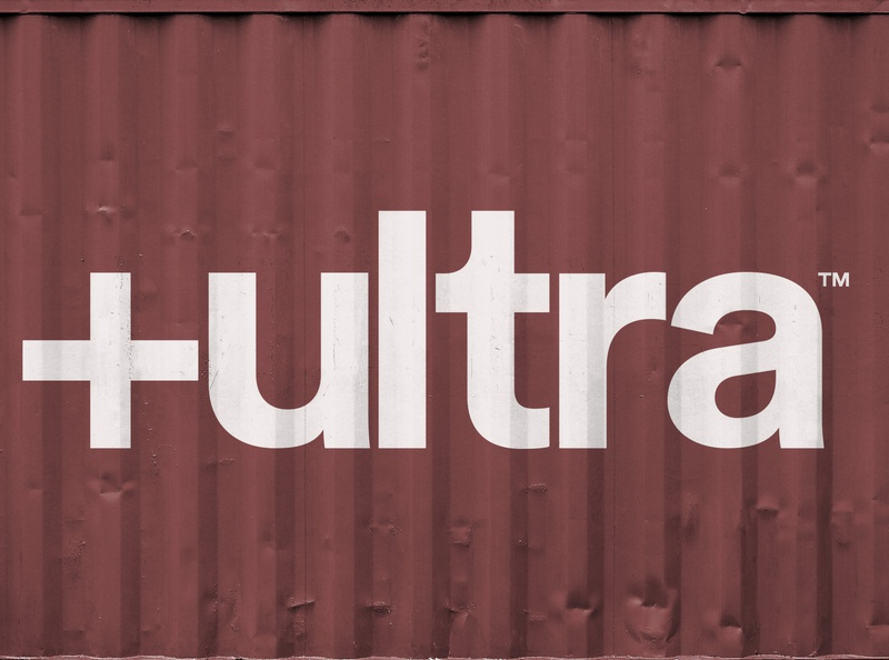 +ultra logo icon typography vector minimal industrial container logo branding 2d design