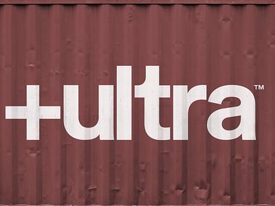 +ultra logo icon typography vector minimal industrial container logo branding 2d design