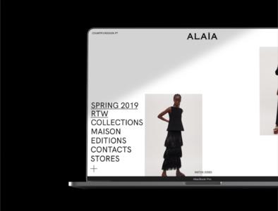 Aläia — Webdesign Concept fashion layout 2d minimalism high fashion fashion website fashion brand website digital design webdesign minimal ui