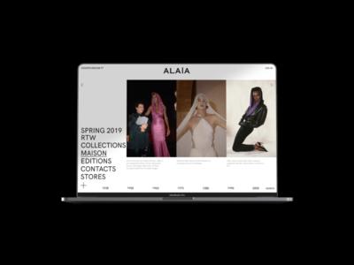 Aläia — Webdesign Concept website design luxury luxury brand fashion website 2d fashion digital design layout webdesign minimal ui