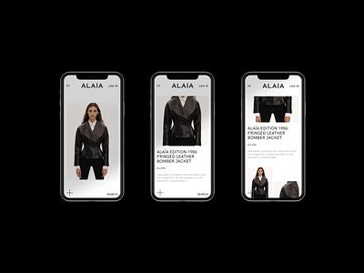 Aläia — Webdesign Concept 2d website clean digital design webdesign minimal ui responsive web design responsive website fashion website