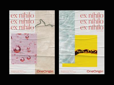 One Origin® Creative Studio branding layout collage design office yellow ocean poster designer poster a day poster art minimal poster poster design posters