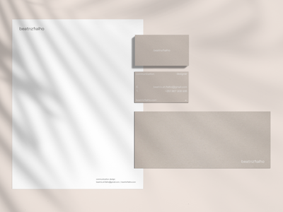 Personal Branding pastel color envelope letterhead business cards layout typography clean vector logo 2d branding minimal design