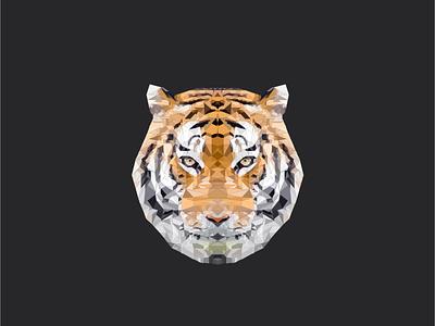 Polygon Tiger svg polygon tiger