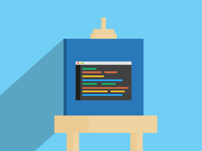 Code Art art terminal code illustration svg