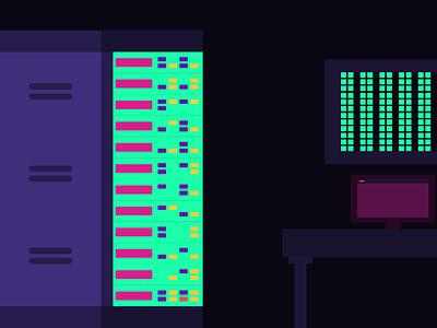 Hacking Room illustration hacker hacking
