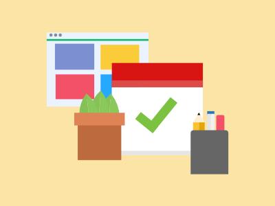 Blogging and Productivity calendar webpage plant blogging blog