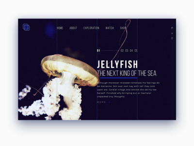 Jellyfish typography dribbble design app web ui ux motion