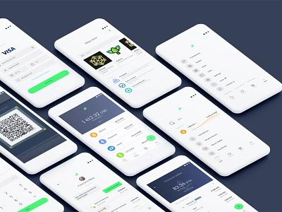 Jarvis Exchange light material blockchain digital wallet gradient branding dribbble design concept jarvis crypto exchange app dashboard ui ux