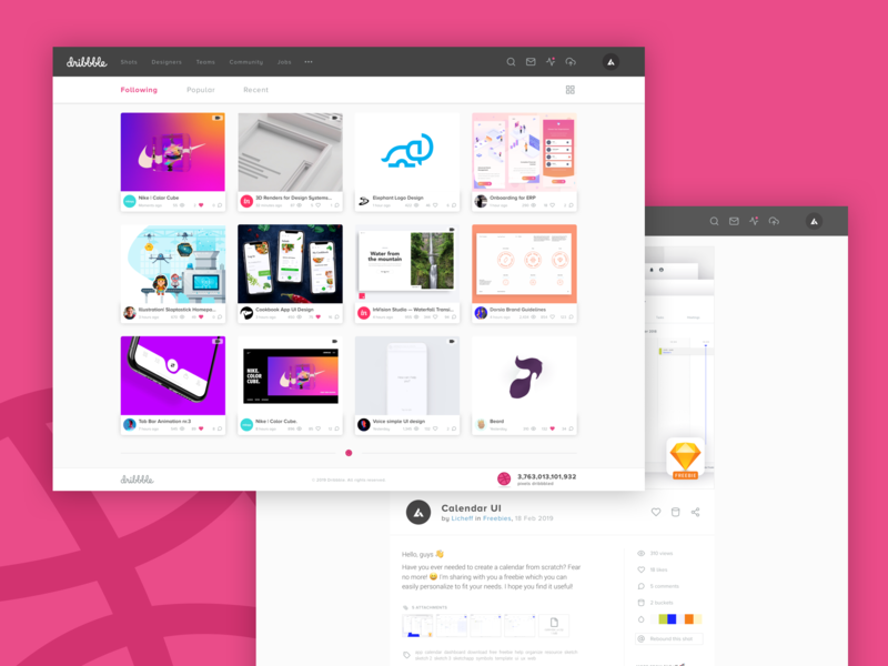 Dribbble WEB dashboard dribbble ball concept design rebuild portfolio community shot update redesign ui ux web dribbble app facelift dribbble