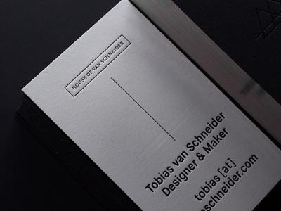 House of van Schneider cards gilding letterpress edge painting paper businesscards foil stamp black