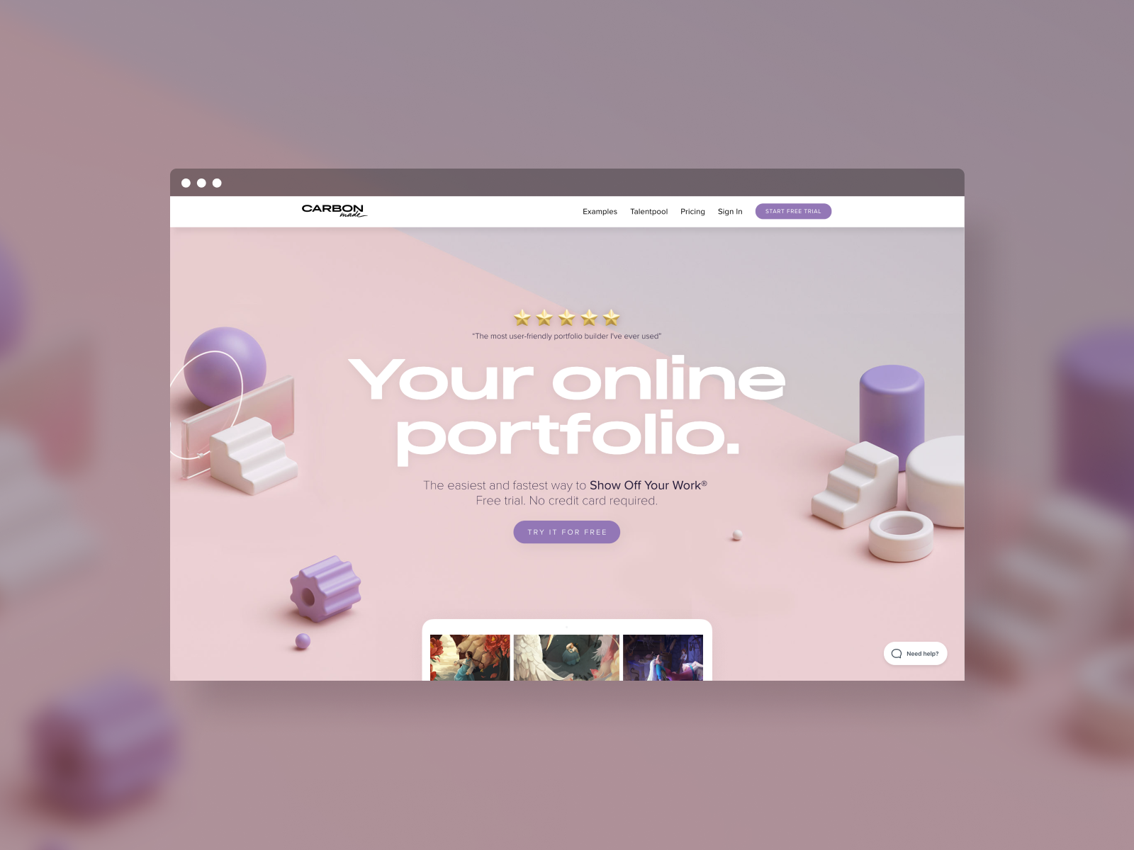 The new Carbonmade V4 website