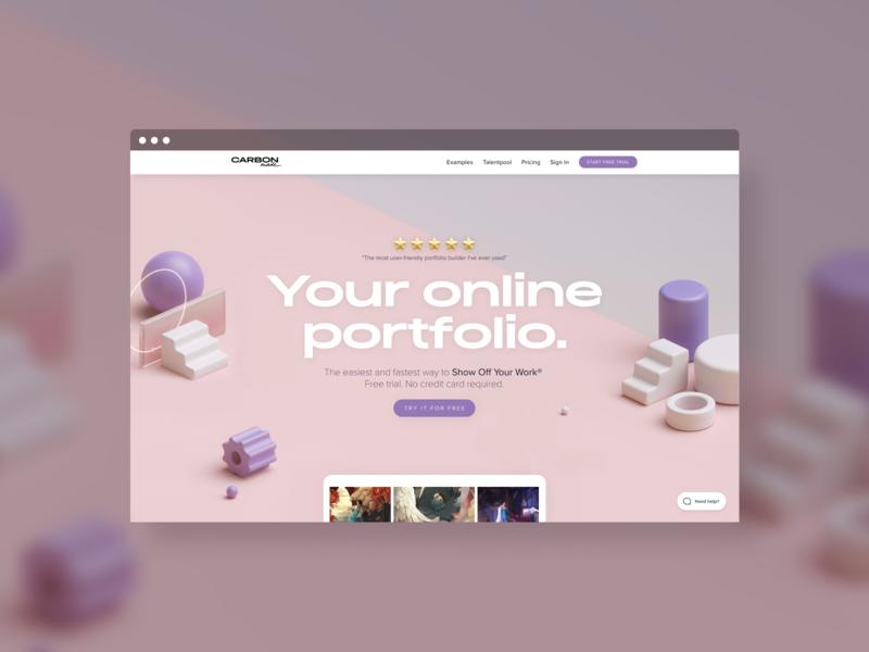 The new Carbonmade V4 website 3d art website webdesign portfolio website 3d portfolio