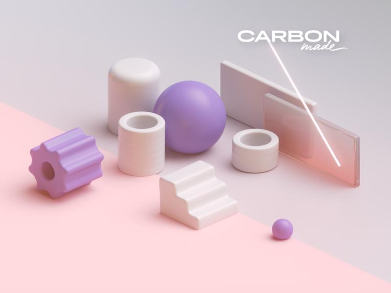 Carbonmade Rendering purple 3d
